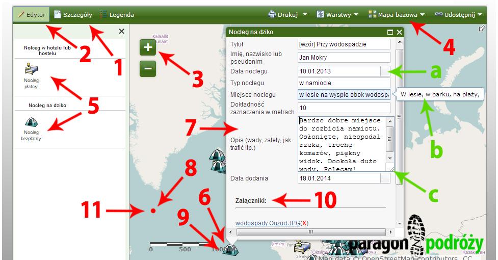 Instrukcja - mapa tanich noclegów