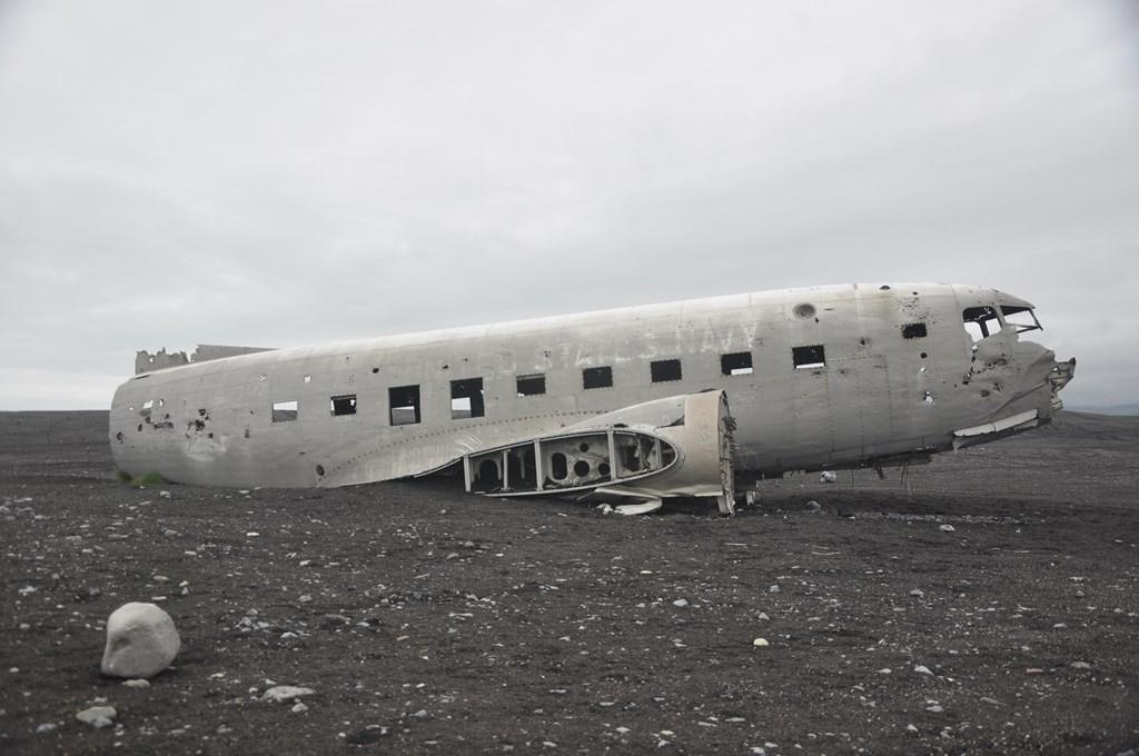 opuszczony samolot na islandii