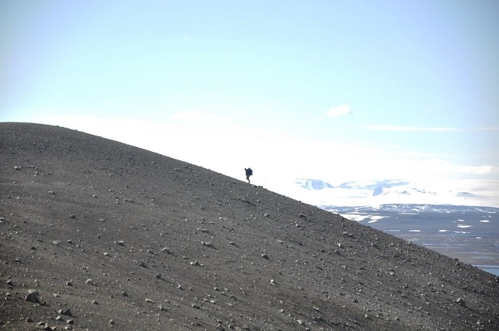 12:40. I jeszcze kawałek do góry. Krater nie jest wysoki, liczy jedyne 420 m n.p.m. więc wejście na niego nie wymaga wysiłku.