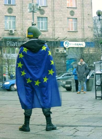 Ukraińska parafraza Kapitana Ameryki. Fot. Katarzyna Wawer