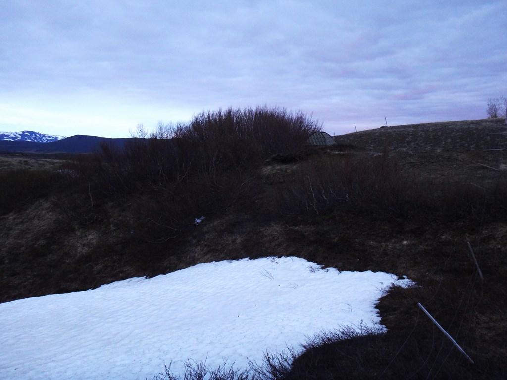 22:30. Po posiłku rozbijamy namiot przy okolicznych krzakach i tu zamierzamy skończyć dzień.