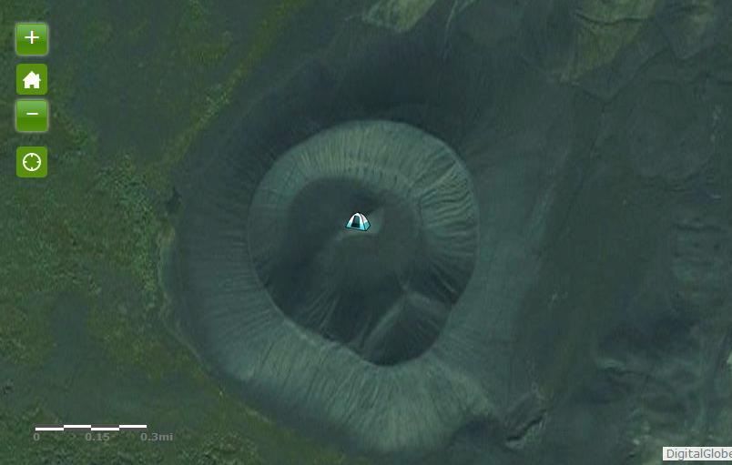 w kraterze