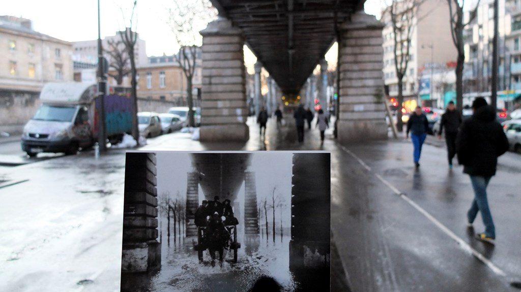 Stare zdjęcia Paryża zrobione dzisiaj