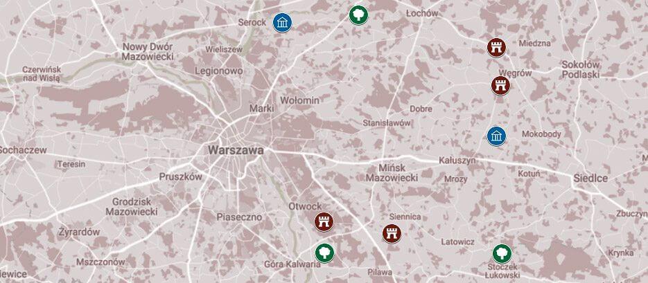 Godzina drogi od Warszawy: na wschód