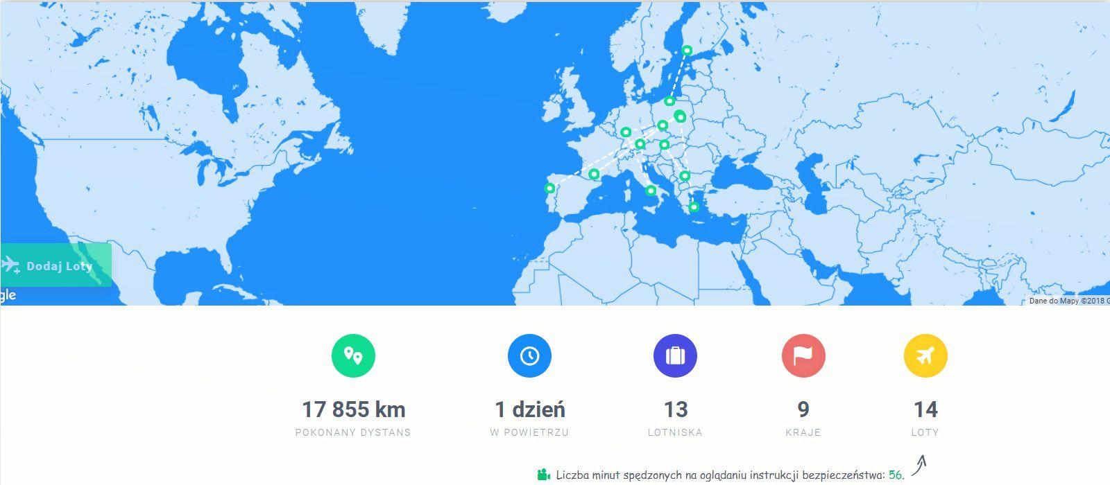Nowy sposób na odszkodowania za odwołane loty i mapa podróży online