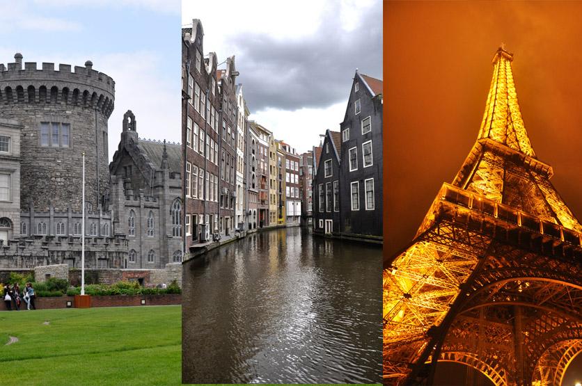 Amsterdam vs. Dublin vs. Paryż