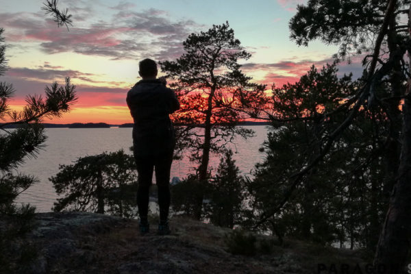 sunset finland